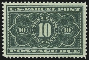 Sale Number 1061, Lot Number 4236, Newspapers and Periodicals thru Parcel Post10c Dark Green, Parcel Post Postage Due (JQ4), 10c Dark Green, Parcel Post Postage Due (JQ4)