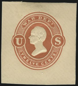 Sale Number 1061, Lot Number 4256, Postal Stationery12c War, Red on Cream, Cut Square (UO63, UPSS WD15), 12c War, Red on Cream, Cut Square (UO63, UPSS WD15)