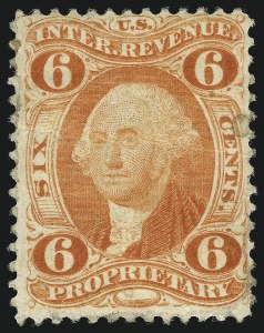Sale Number 1061, Lot Number 4273, Revenues6c Proprietary, Perforated (R31c), 6c Proprietary, Perforated (R31c)