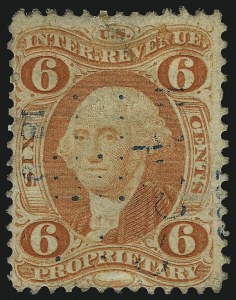 Sale Number 1061, Lot Number 4274, Revenues6c Proprietary, Perforated (R31c), 6c Proprietary, Perforated (R31c)