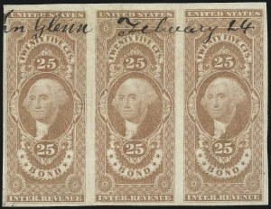Sale Number 1061, Lot Number 4277, Revenues25c Bond, Imperforate (R43a), 25c Bond, Imperforate (R43a)