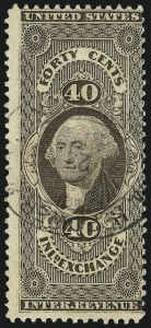Sale Number 1061, Lot Number 4278, Revenues40c Inland Exchange, Silk Paper (R53d), 40c Inland Exchange, Silk Paper (R53d)