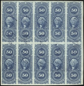 Sale Number 1061, Lot Number 4279, Revenues50c Conveyance, Imperforate (R54a), 50c Conveyance, Imperforate (R54a)