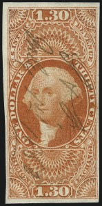 Sale Number 1061, Lot Number 4281, Revenues$1.30 Foreign Exchange, Imperforate (R77a), $1.30 Foreign Exchange, Imperforate (R77a)