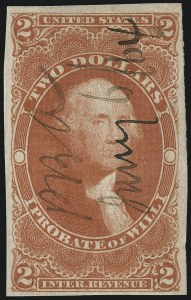 Sale Number 1061, Lot Number 4285, Revenues$2.00 Probate of Will, Imperforate (R83a), $2.00 Probate of Will, Imperforate (R83a)