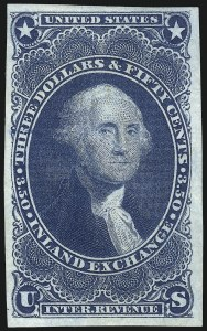 Sale Number 1061, Lot Number 4286, Revenues$3.50 Inland Exchange, Imperforate (R87a), $3.50 Inland Exchange, Imperforate (R87a)