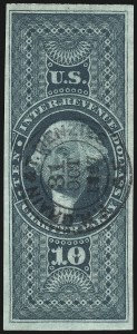 Sale Number 1061, Lot Number 4288, Revenues$10.00 Charter Party, Imperforate (R93a), $10.00 Charter Party, Imperforate (R93a)