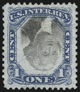 Sale Number 1061, Lot Number 4304, Revenues, Cont.1c Blue & Black, Second Issue, Inverted Center (R103a), 1c Blue & Black, Second Issue, Inverted Center (R103a)