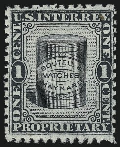 Sale Number 1061, Lot Number 4339, Private Die Match Stamps, Akron thru Wm. GatesBoutell & Maynard, 1c Black, Silk Paper (RO38b), Boutell & Maynard, 1c Black, Silk Paper (RO38b)