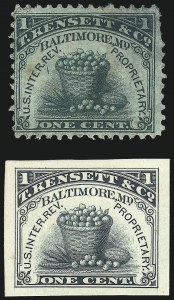 Sale Number 1061, Lot Number 4373, Private Die Match Stamps, Goldback thru Wise, Private Die Canned FruitCANNED FRUIT, T. Kensett & Co., 1c Green, Old Paper (RP1a), CANNED FRUIT, T. Kensett & Co., 1c Green, Old Paper (RP1a)