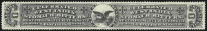 Sale Number 1061, Lot Number 4480, Private Die Medicine Stamps, Kelly thru ZeilinWest India Manufacturing Co., 4c Black, Die I, Silk Paper (RS264b), West India Manufacturing Co., 4c Black, Die I, Silk Paper (RS264b)