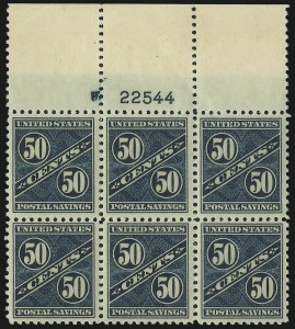 Sale Number 1061, Lot Number 4552, Postal Savings and Postage Currency50c Dark Blue Green, Postal Savings (PS9), 50c Dark Blue Green, Postal Savings (PS9)