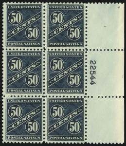 Sale Number 1061, Lot Number 4553, Postal Savings and Postage Currency50c Dark Blue Green, Postal Savings (PS9), 50c Dark Blue Green, Postal Savings (PS9)