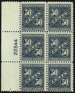 Sale Number 1061, Lot Number 4554, Postal Savings and Postage Currency50c Dark Blue Green, Postal Savings (PS9), 50c Dark Blue Green, Postal Savings (PS9)