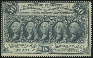 "Sale Number 1061, Lot Number 4557, Postal Savings and Postage Currency5c-50c Postage Currency, ""ABCo"" Imprint, Perforated and Imperforate (PC1-PC8), 5c-50c Postage Currency, ""ABCo"" Imprint, Perforated and Imperforate (PC1-PC8)"
