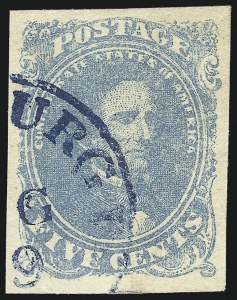 Sale Number 1061, Lot Number 4561, Confederate States5c Light Milky Blue, Stone 2 (4b), 5c Light Milky Blue, Stone 2 (4b)
