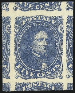 Sale Number 1061, Lot Number 4562, Confederate States5c Blue (4), 5c Blue (4)