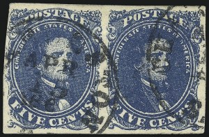 Sale Number 1061, Lot Number 4563, Confederate States5c Blue (4), 5c Blue (4)