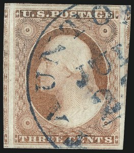 Sale Number 1062, Lot Number 101, 3c 1851-56 Issue (Scott 10-11A)3c Dull Red, Ty. II (11A), 3c Dull Red, Ty. II (11A)