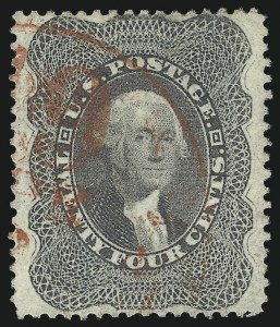 Sale Number 1062, Lot Number 157, 10c-90c 1857-60 Issue (Scott 31-39)24c Gray Lilac (37), 24c Gray Lilac (37)