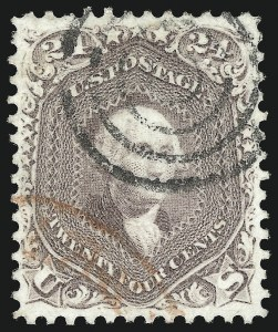 Sale Number 1062, Lot Number 209, 1861-66 Issue, cont. (Scott 70-70d)24c Brown Lilac (70a), 24c Brown Lilac (70a)