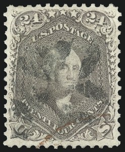 Sale Number 1062, Lot Number 212, 1861-66 Issue, cont. (Scott 70-70d)24c Brown Lilac (70a), 24c Brown Lilac (70a)