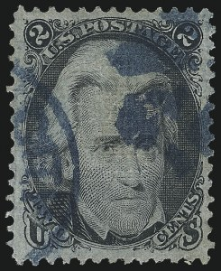 Sale Number 1062, Lot Number 276, 1867-68 Grilled Issue (Scott 79-101)2c Black, F. Grill (93), 2c Black, F. Grill (93)
