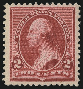 "Sale Number 1062, Lot Number 411, 1879-93 American Bank Note Co. Issues (Scott 182-229)2c Carmine, Cap on Both ""2""'s (220c), 2c Carmine, Cap on Both ""2""'s (220c)"