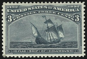 Sale Number 1062, Lot Number 418, 1893 Columbian Issue (Scott 230-245)3c Columbian (232), 3c Columbian (232)
