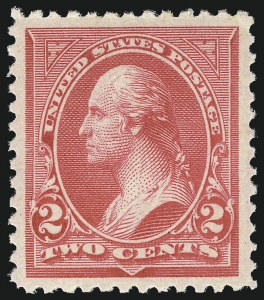 Sale Number 1062, Lot Number 435, 1894 Unwatermarked Bureau Issue (Scott 246-263)2c Carmine, Ty. III (252), 2c Carmine, Ty. III (252)