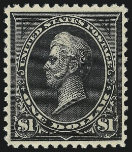 Sale Number 1062, Lot Number 446, 1894 Unwatermarked Bureau Issue (Scott 246-263)$1.00 Black, Ty. II (261A), $1.00 Black, Ty. II (261A)
