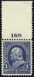 Sale Number 1062, Lot Number 449, 1895-98 Watermarked Bureau Issues (Scott 264-284)1c Blue (264), 1c Blue (264)