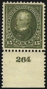 Sale Number 1062, Lot Number 468, 1895-98 Watermarked Bureau Issues (Scott 264-284)15c Olive Green (284), 15c Olive Green (284)