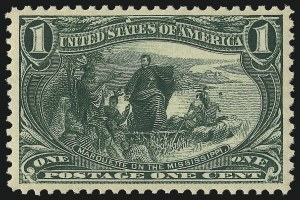 Sale Number 1062, Lot Number 469, 1898 Trans-Mississippi and 1902 Pan-American Issues (Scott 285-299)1c Trans-Mississippi (285), 1c Trans-Mississippi (285)