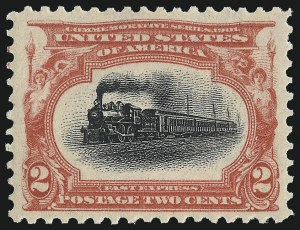 Sale Number 1062, Lot Number 478, 1898 Trans-Mississippi and 1902 Pan-American Issues (Scott 285-299)2c Pan-American (295), 2c Pan-American (295)