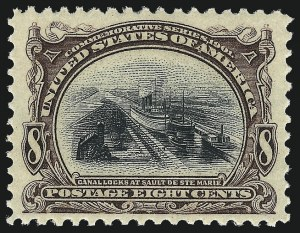 Sale Number 1062, Lot Number 481, 1898 Trans-Mississippi and 1902 Pan-American Issues (Scott 285-299)8c Pan-American (298), 8c Pan-American (298)