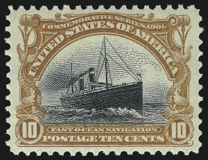 Sale Number 1062, Lot Number 481A, 1898 Trans-Mississippi and 1902 Pan-American Issues (Scott 285-299)10c Pan-American (299), 10c Pan-American (299)