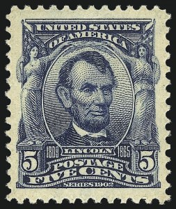 Sale Number 1062, Lot Number 486, 1902-08 Issues (Scott 300-322)5c Blue (304), 5c Blue (304)