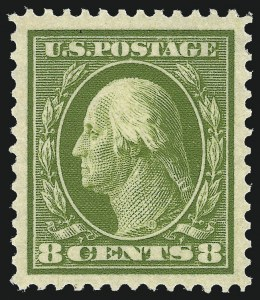 Sale Number 1062, Lot Number 556, 1909 Commemoratives, 1910-13 Washington-Franklin Issue (Scott 369-396)8c Olive Green (380), 8c Olive Green (380)