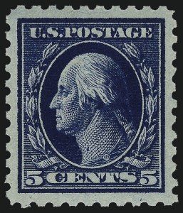 Sale Number 1062, Lot Number 611, 1913-15 Washington-Franklin Issues (Scott 424-449)5c Dark Blue (428), 5c Dark Blue (428)