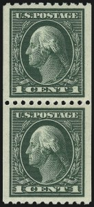 Sale Number 1062, Lot Number 623, 1913-15 Washington-Franklin Issues (Scott 424-449)1c Green, Coil (441), 1c Green, Coil (441)