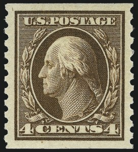 Sale Number 1062, Lot Number 633, 1913-15 Washington-Franklin Issues (Scott 424-449)4c Brown, Coil (446), 4c Brown, Coil (446)