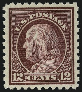 Sale Number 1062, Lot Number 672, 1916-17 Issues (Scott 462-480)12c Claret Brown (474), 12c Claret Brown (474)