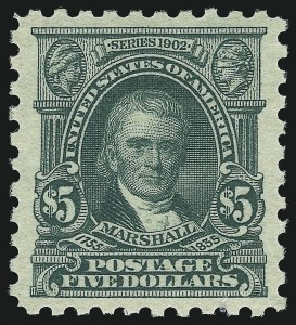 Sale Number 1062, Lot Number 679, 1916-17 Issues (Scott 462-480)$5.00 Light Green (480), $5.00 Light Green (480)