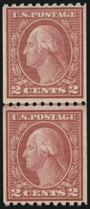 Sale Number 1062, Lot Number 683, 1917-19 Issues (Scott 481-524)2c Carmine, Ty. II, Coil (487), 2c Carmine, Ty. II, Coil (487)