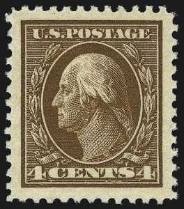 Sale Number 1062, Lot Number 701, 1917-19 Issues (Scott 481-524)4c Brown (503), 4c Brown (503)