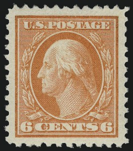 Sale Number 1062, Lot Number 704, 1917-19 Issues (Scott 481-524)6c Red Orange (506), 6c Red Orange (506)