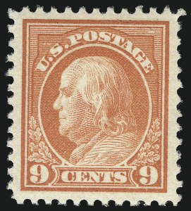 Sale Number 1062, Lot Number 705, 1917-19 Issues (Scott 481-524)9c Salmon Red (509), 9c Salmon Red (509)