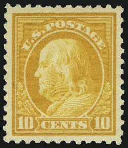 Sale Number 1062, Lot Number 706, 1917-19 Issues (Scott 481-524)10c Orange Yellow (510), 10c Orange Yellow (510)
