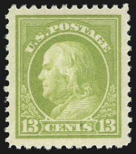 Sale Number 1062, Lot Number 708, 1917-19 Issues (Scott 481-524)13c Apple Green (513), 13c Apple Green (513)